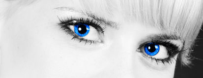 Blue eyes Royalty Free Stock Photos