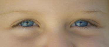 Blue eyes. Close up of the innocent look of a young toddler Stock Images