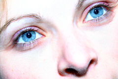 Blue eyes. Sparkle in the eyes Royalty Free Stock Image