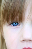 Blue eyes. Close up of a little girl with blue eyes Royalty Free Stock Photography