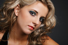 Blue eyes. Royalty Free Stock Photography