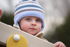 Blue eyes baby Royalty Free Stock Images