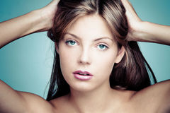 Blue eyes beauty Royalty Free Stock Photo