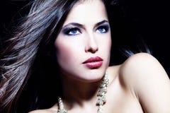 Blue eyes beauty Stock Images
