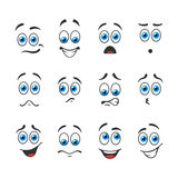 Blue eyes in different emotions Royalty Free Stock Photos
