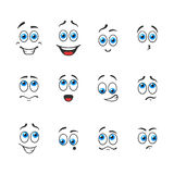 Blue eyes in emotions Royalty Free Stock Images