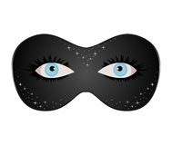 Free Blue Eyes Hidden Under Theatrical Mask Stock Image - 17675081