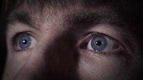 Blue eyes and human expression stock video footage