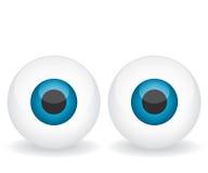 Blue eyes illustration Stock Photography