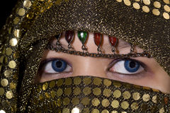 Blue eyes Orient Royalty Free Stock Photography