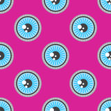 Blue eyes patch vector seamless pattern Stock Photo