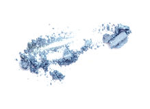 Blue eyeshadow isolate on white. Stock Photo