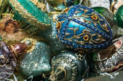 Blue Faberge egg Stock Image