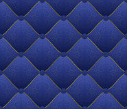 Blue fabric. Embroidered with gold threads - seamless Stock Photography