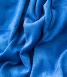 Blue fabric as a background Stock Photo