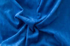 Blue fabric as a background Royalty Free Stock Images