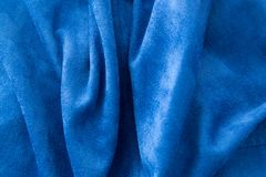 Blue fabric as a background Stock Image