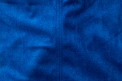 Blue fabric as a background Royalty Free Stock Photos