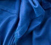 Blue fabric as a background Stock Photos