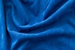 Blue fabric as a background Royalty Free Stock Photo