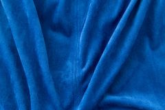 Blue fabric as a background Royalty Free Stock Image