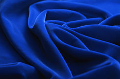 Blue fabric background Stock Images