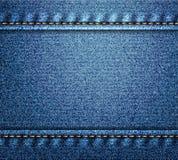 Blue denim banner Royalty Free Stock Photos