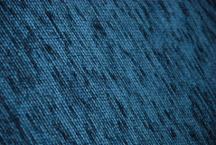 Blue fabric closeup. Blue and black fabric closeup background Royalty Free Stock Images