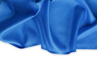 Blue fabric. Closeup of blue fabric on white Royalty Free Stock Photo
