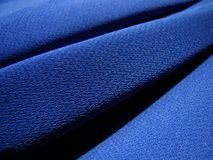 Blue fabric crepe Royalty Free Stock Image
