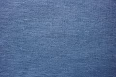 Blue fabric, detailed textile surface. Background Royalty Free Stock Photo