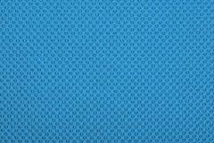 Blue fabric with dots, background. Stock Photos