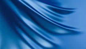 Blue fabric drape. 3d rendering of blue fabric drape royalty free illustration
