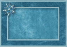 Blue fabric frame with gem Royalty Free Stock Images