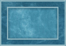 Blue fabric frame Stock Image