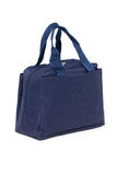 Blue Fabric Handbag. Stock Images