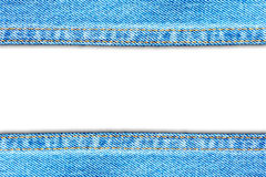 Blue fabric jean background Stock Photo