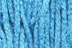 Blue fabric in a macro style. Royalty Free Stock Photos