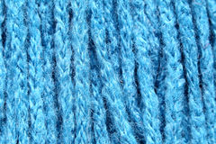 Blue fabric in a macro style. Stock Photography