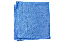 Blue fabric napkin on white Royalty Free Stock Photography