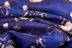 Blue fabric with ornament Stock Image