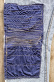 Blue Fabric Patchwork Denim. Stock Images
