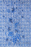 Blue fabric pattern Stock Photography