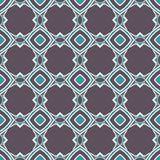 Blue Fabric print. Geometric pattern in repeat. Seamless background, mosaic ornament, ethnic style. Design for prints on fabrics, textile, surface, paper stock illustration