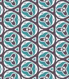Blue Fabric print. Geometric pattern in repeat. Seamless background, mosaic ornament, ethnic style. Design for prints on fabrics, textile, surface, paper royalty free illustration