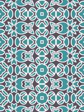 Blue Fabric print. Geometric pattern in repeat. Seamless background, mosaic ornament, ethnic style. Design for prints on fabrics, textile, surface, paper vector illustration