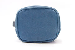 Blue fabric purse Stock Photography