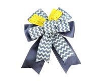 Blue fabric ribbon. Stock Images