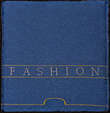 Blue fabric sample Stock Images