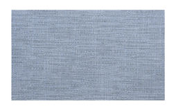 Blue fabric sample isolated Stock Images